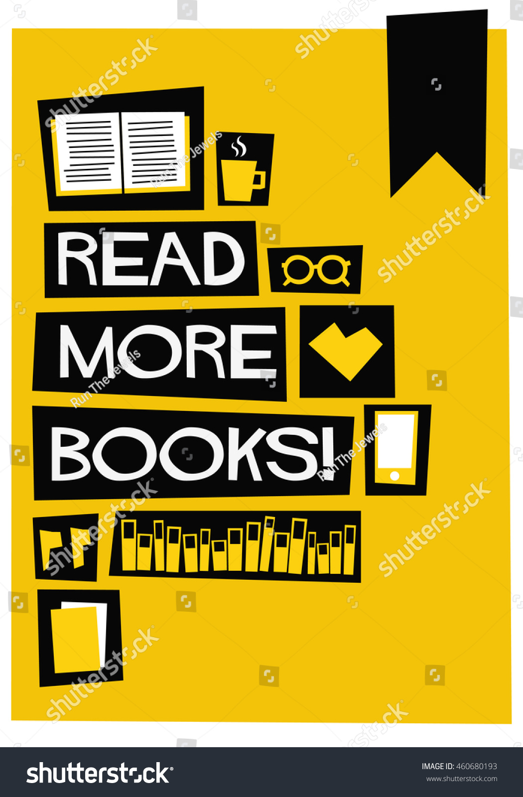Poster design quotation -  Flat Style Vector Illustration Book Quote Poster Design