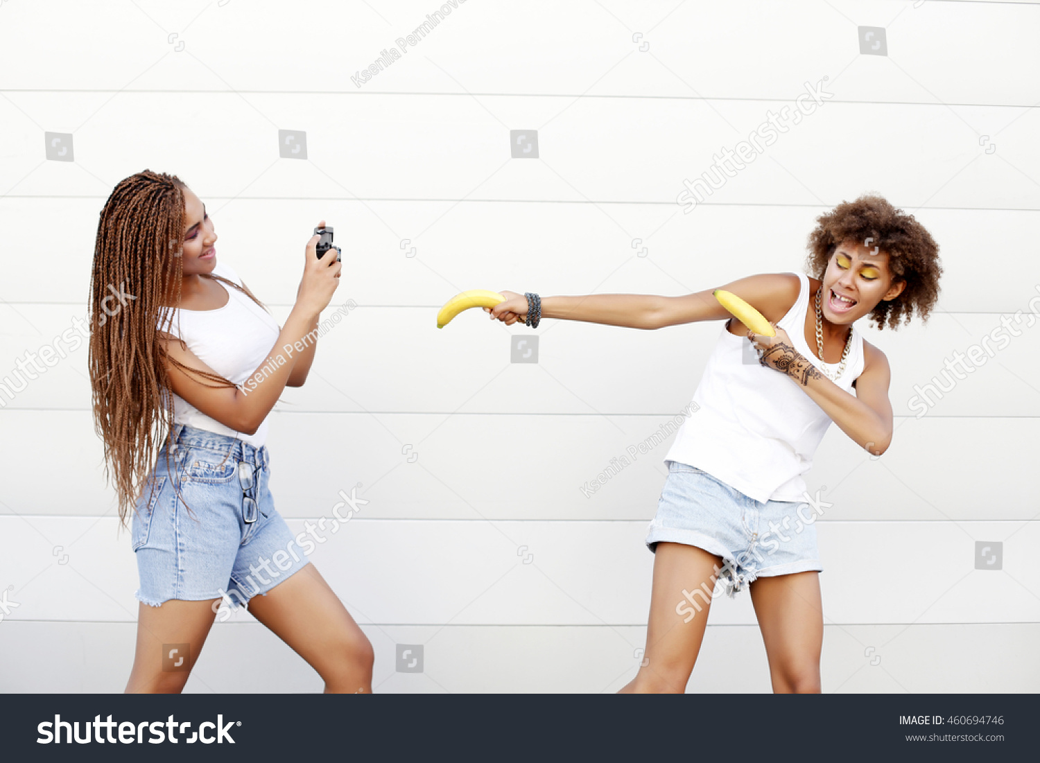 Young Naughty African Girls Having Fun Stock Photo Edit Now