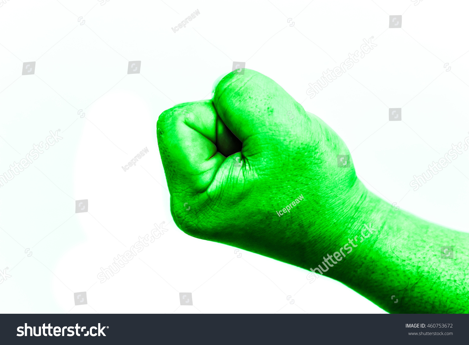 Isolate Hulk Fist On White Background Stock Photo Edit Now