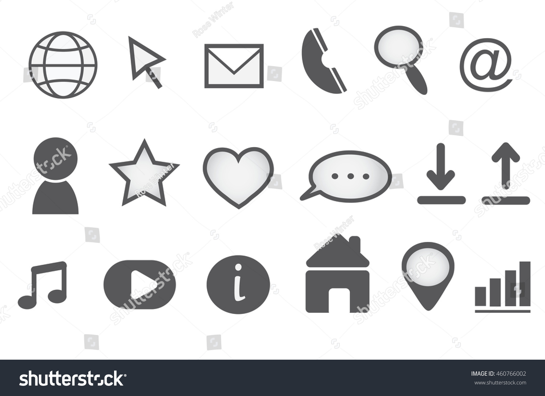 Web Icons Set Website Symbols Stock Vector Royalty Free 460766002