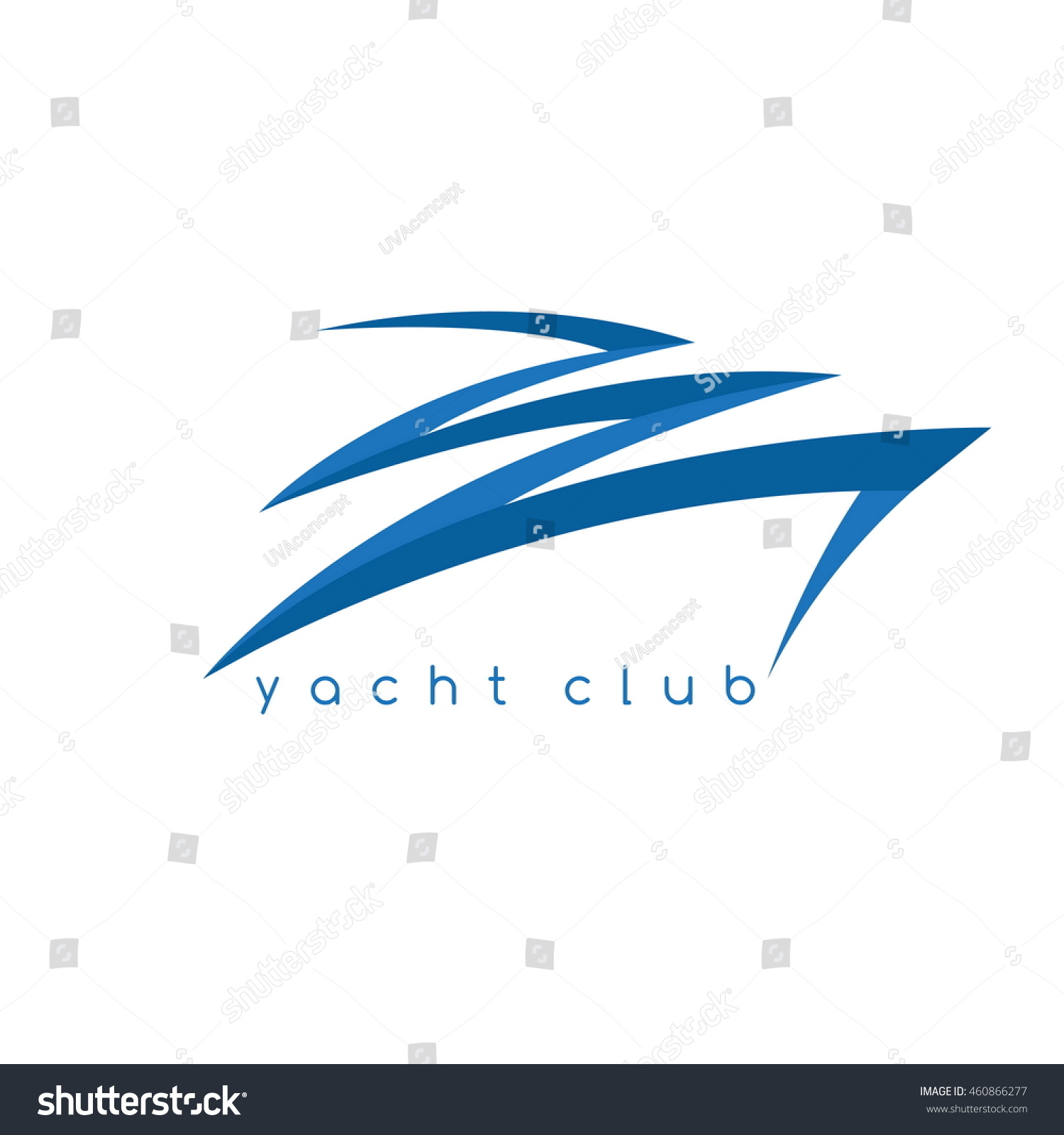 abstract fast boat simple vector design stock vector 460866277