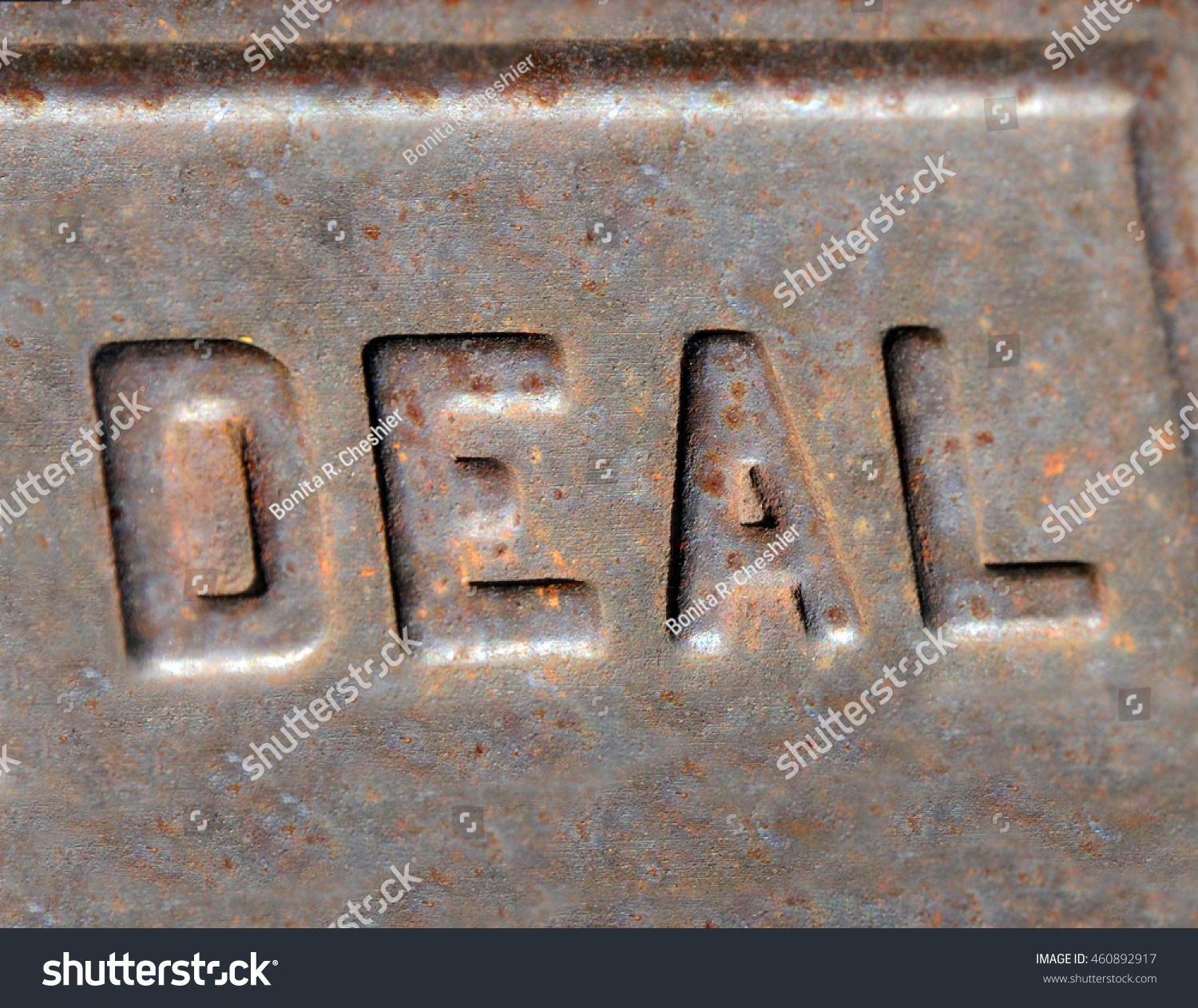 Cheap Metal Letters Raised Metal Letters Spell Word Deal Stock Photo 460892917