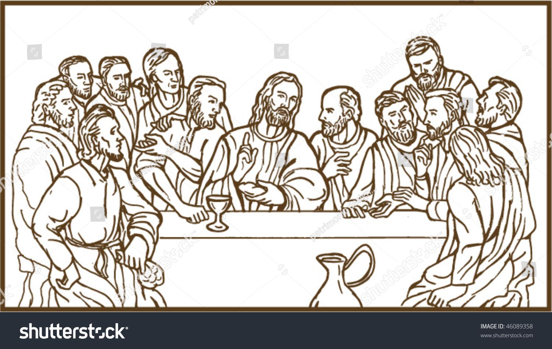 Disciples Last Supper Clip Art Cliparts