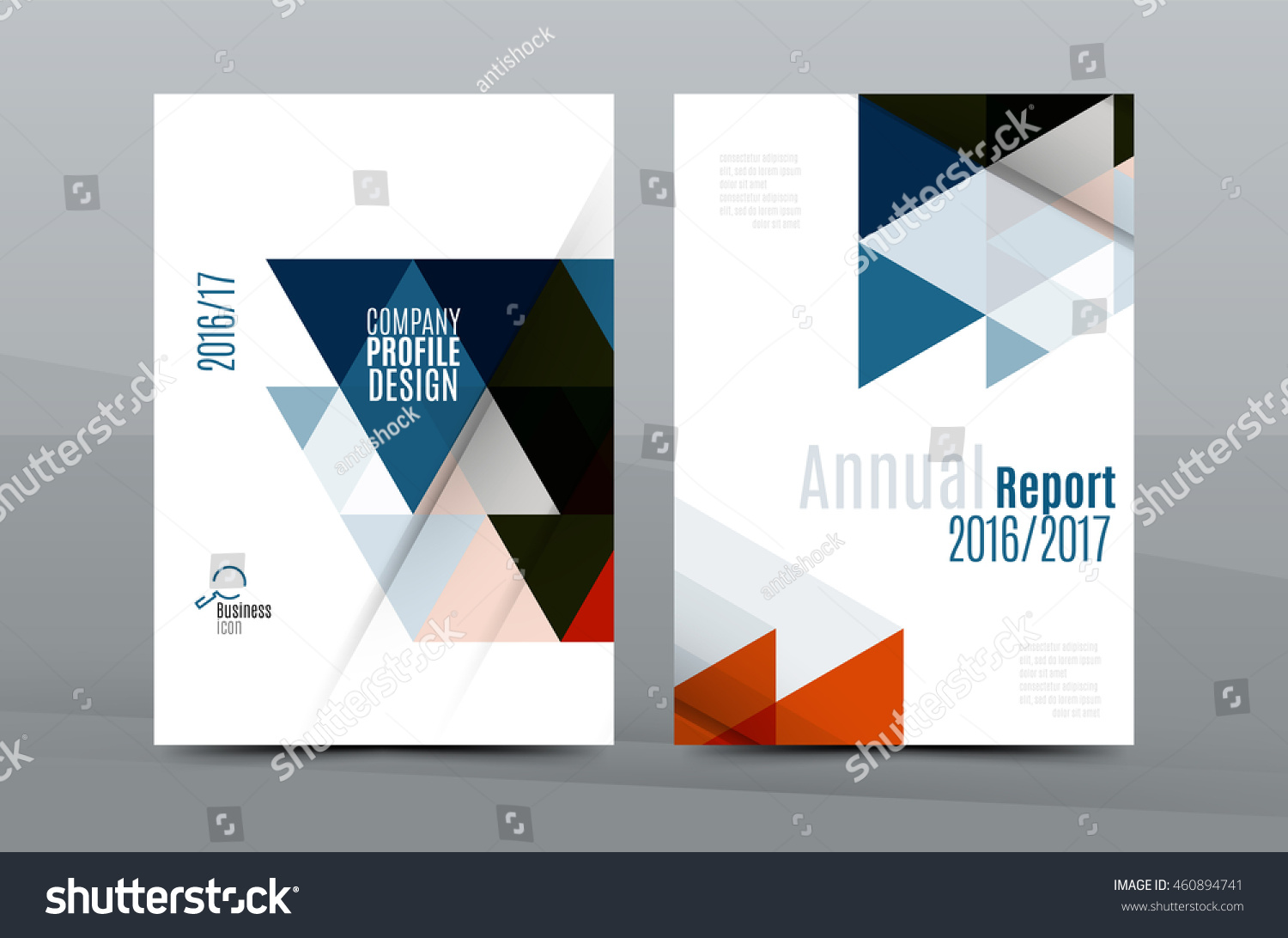 colorful fresh business a 4 cover template stock vector royalty