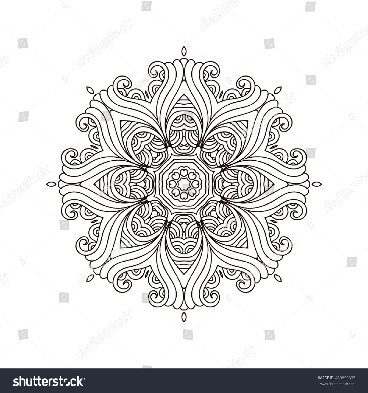 Mandala Coloring Bookoutline Mandalas Inspired Arabian And Indian Tibetan OrnamentAdult