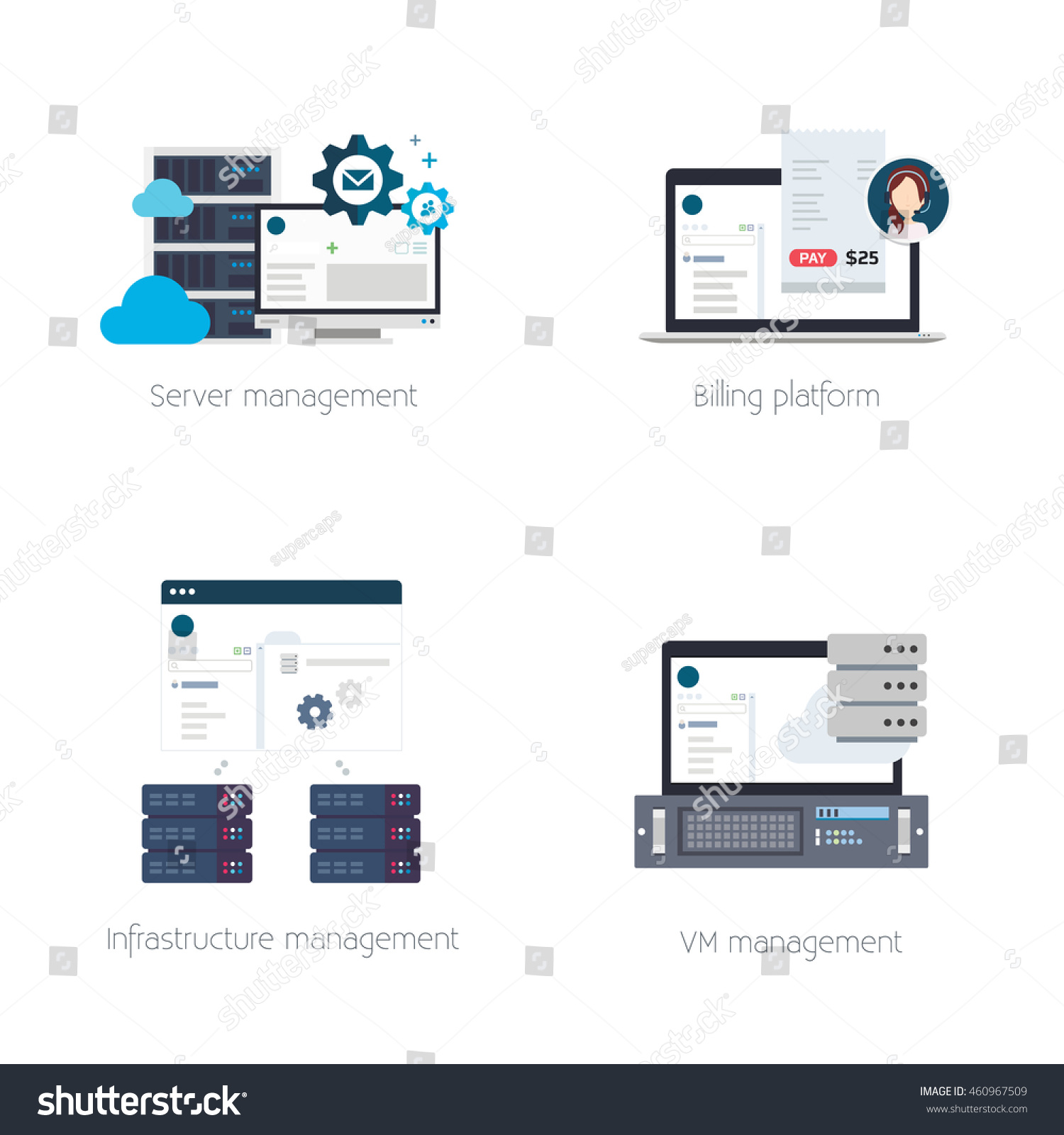 Software solutions for hosting providers stock vector Vector image software