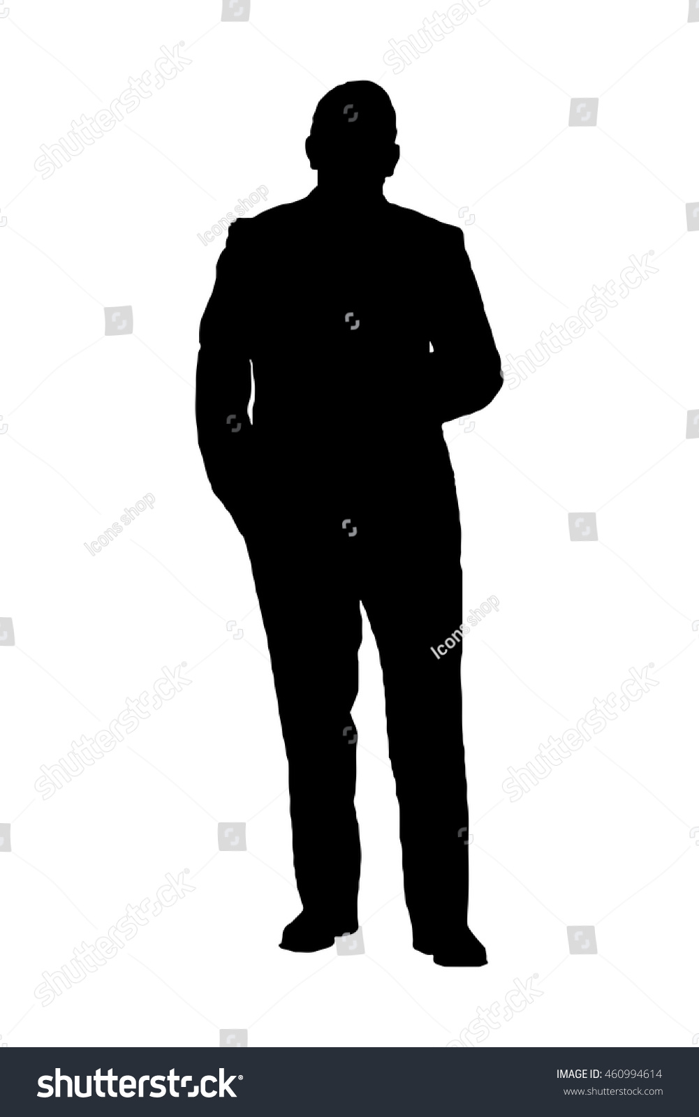Young Business Man Silhouette Businessman Vector Stock ...