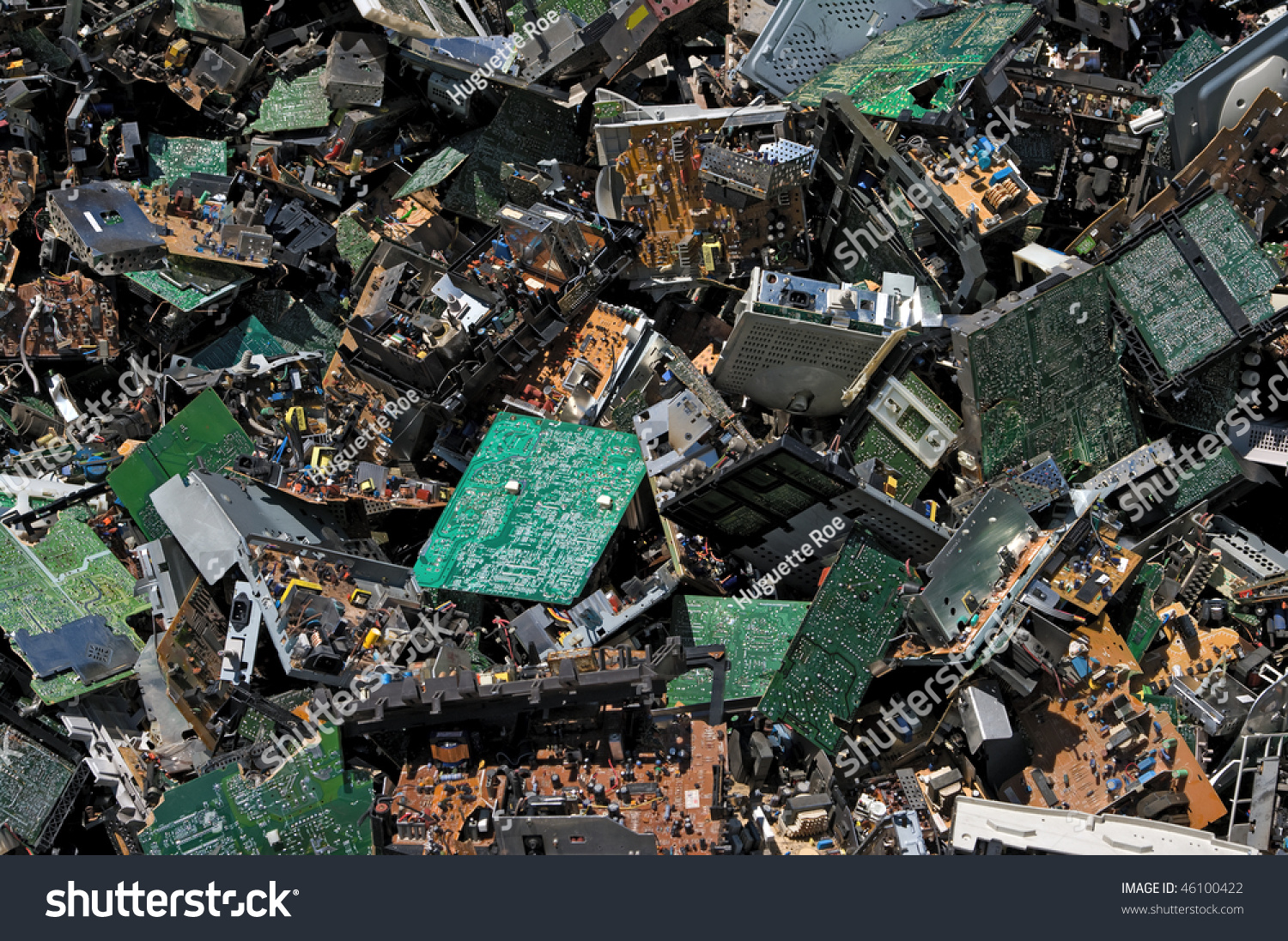 Pile Circuit Board Recycling Stock Photo Edit Now 46100422 Scrap Machine Computer Of For