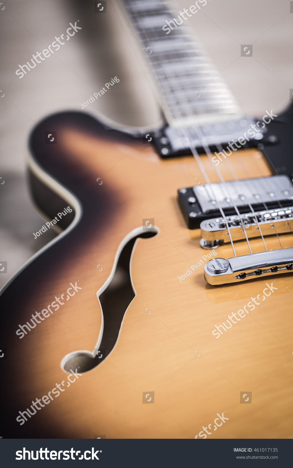 Semi Hollow Jazz Body Electric Guitar Stock Photo Edit Now
