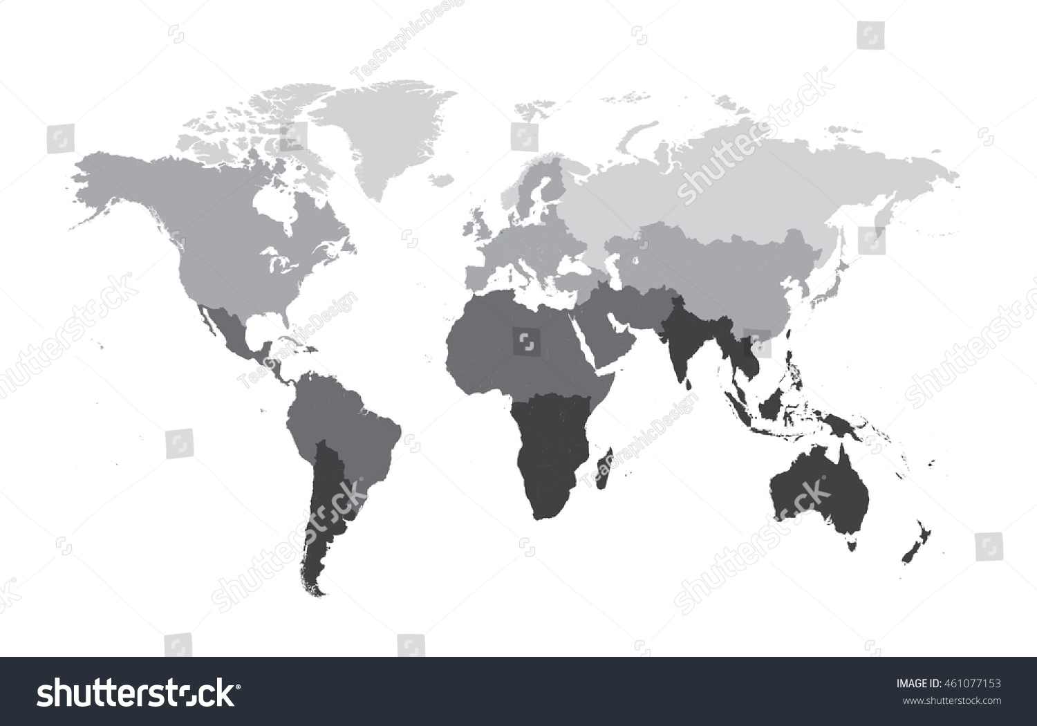 World map flat vector gray color stock vector 461077153 shutterstock world map flat vector gray color sciox Gallery