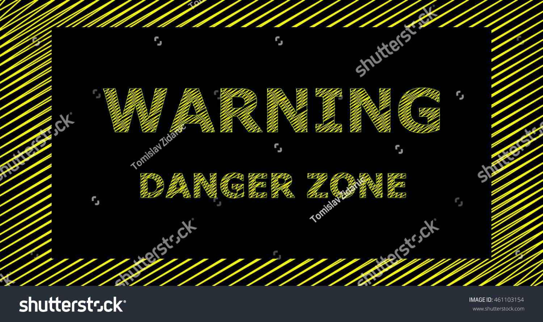 text warning black background - photo #6