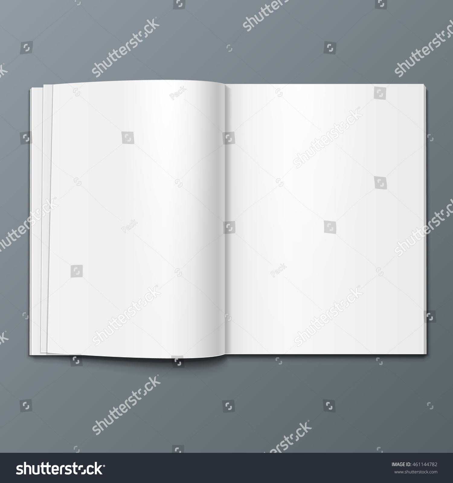 Blank Open Magazine Book Booklet Brochure Stock Vector Royalty Free