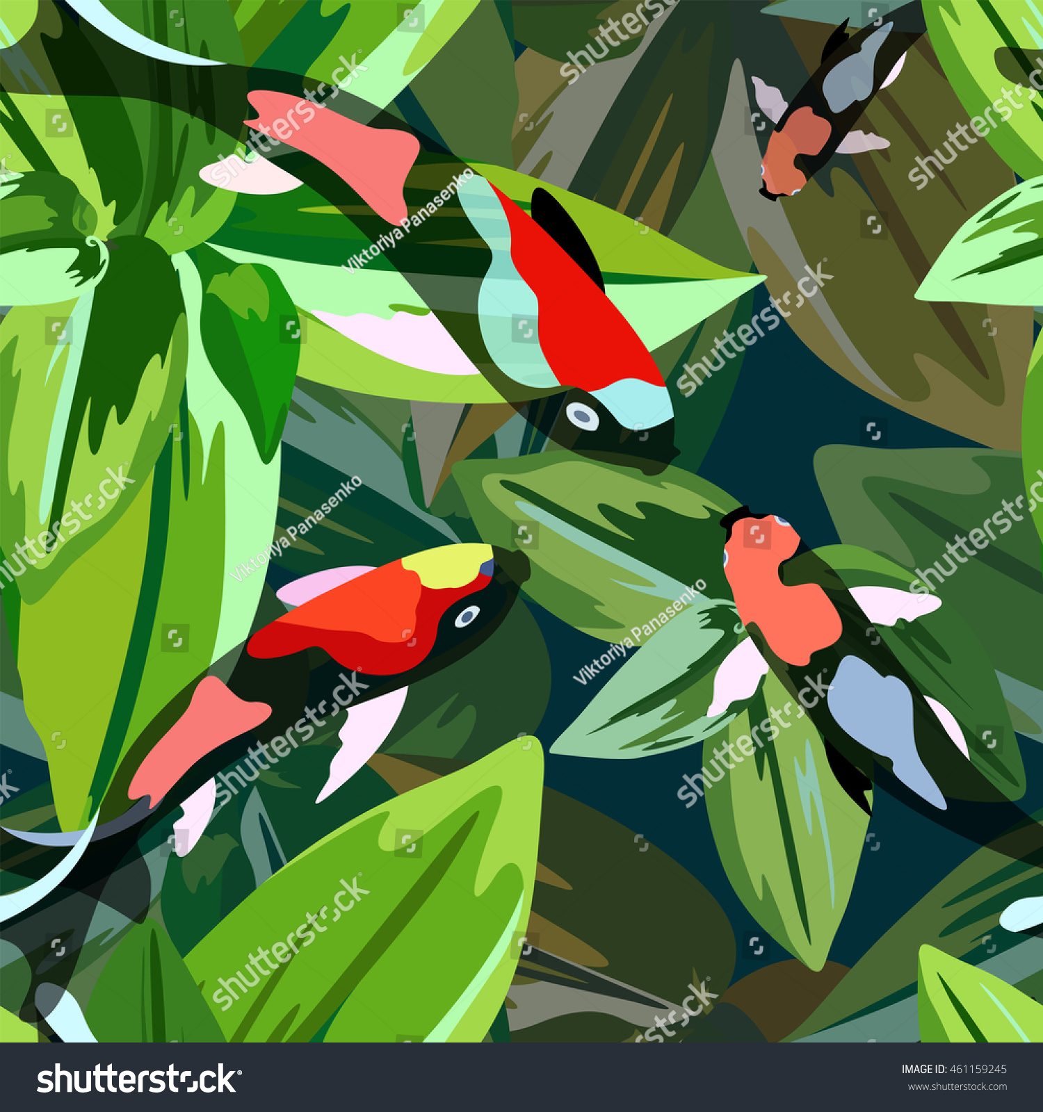 Abstract Illustration Fish Koi Japanese Chinese Stock Vector ...