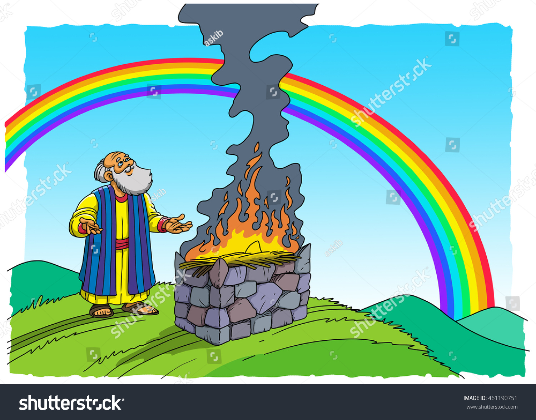 Noah Sacrifices Stock Photo 461190751 Shutterstock