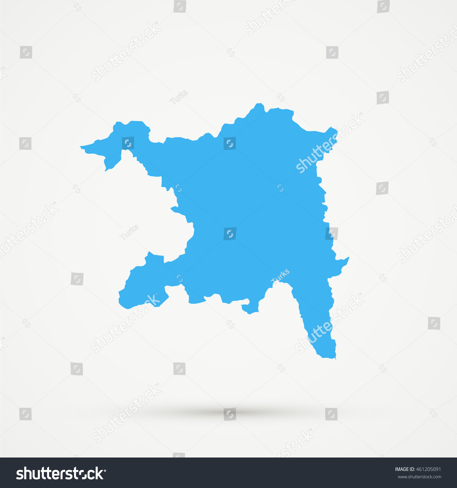 Blue Canton Country Subdivision Aargau Switzerland Stock Vector