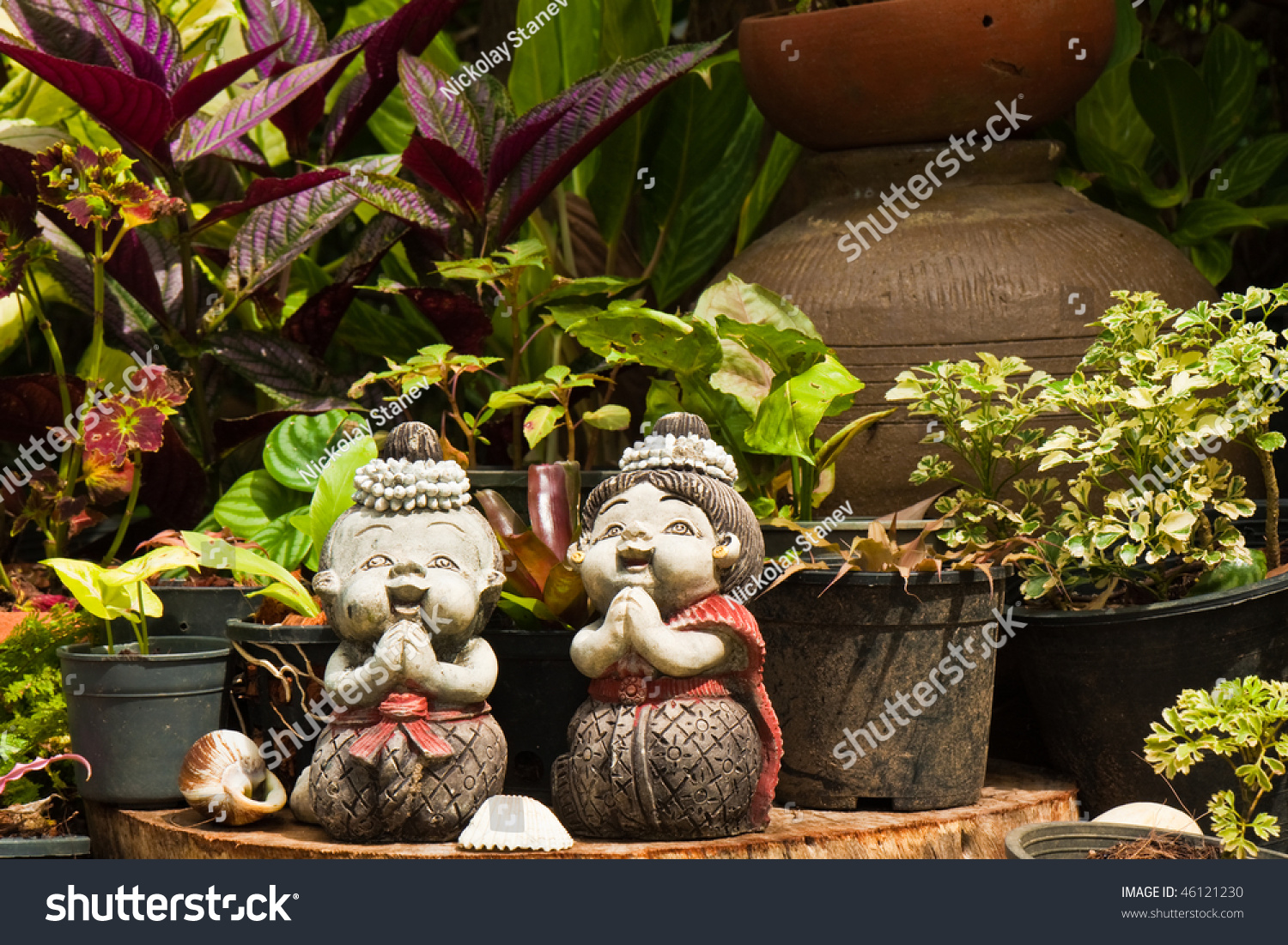 Gnome Statuettes Thailand Garden Stock Photo (Edit Now) 46121230 ...