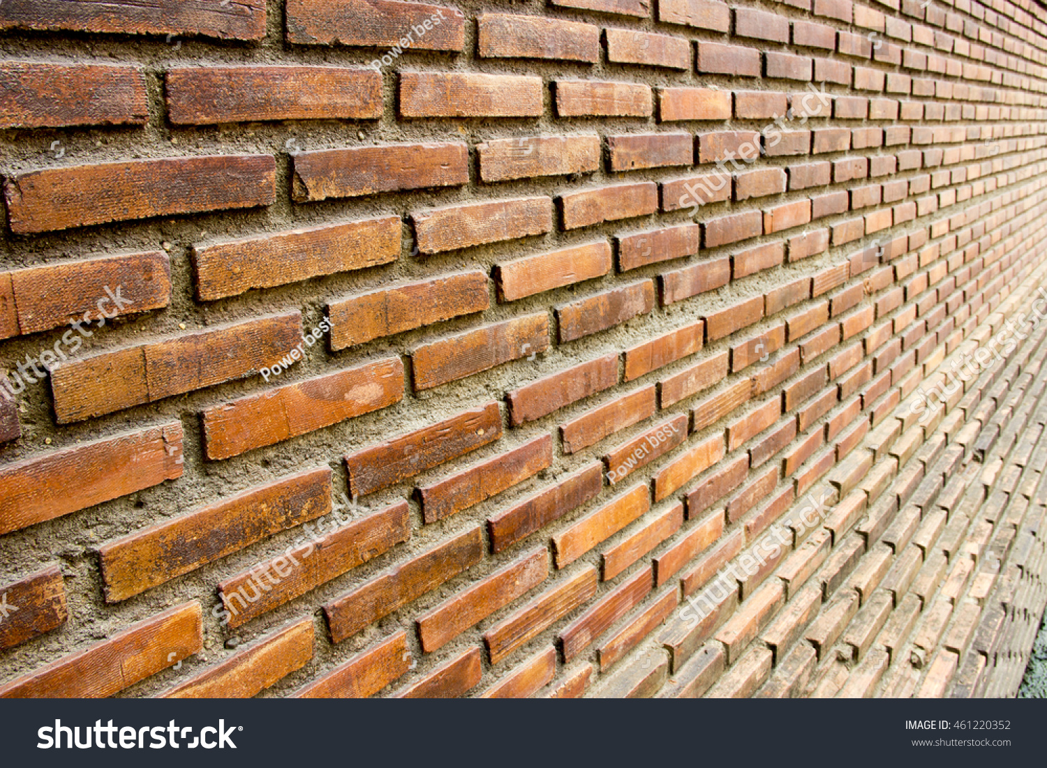 Background of red brick wall pattern texture great for graffiti inscriptions