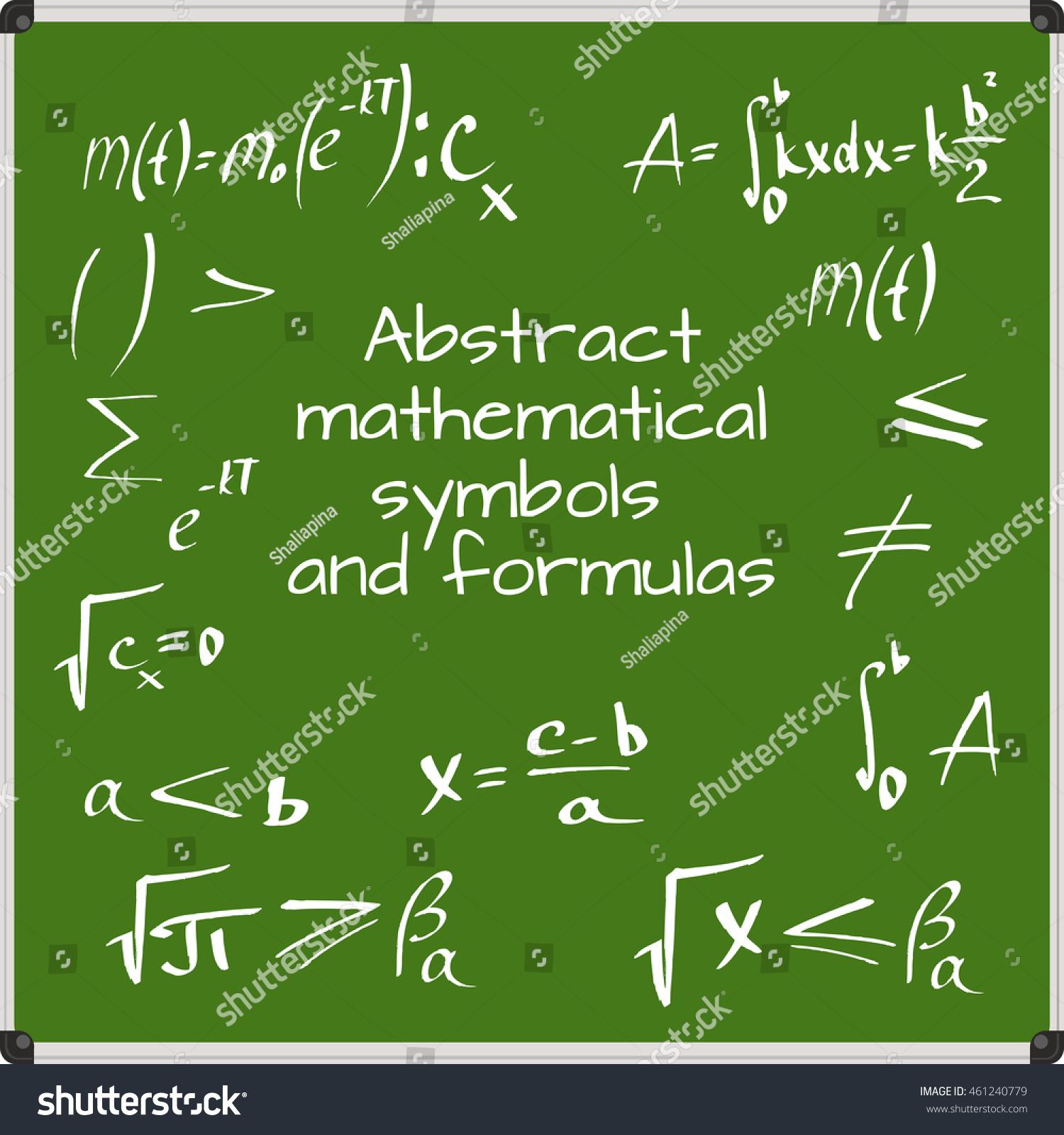 Abstract mathematical symbols formulas stock vector 461240779 abstract mathematical symbols and formulas biocorpaavc Gallery