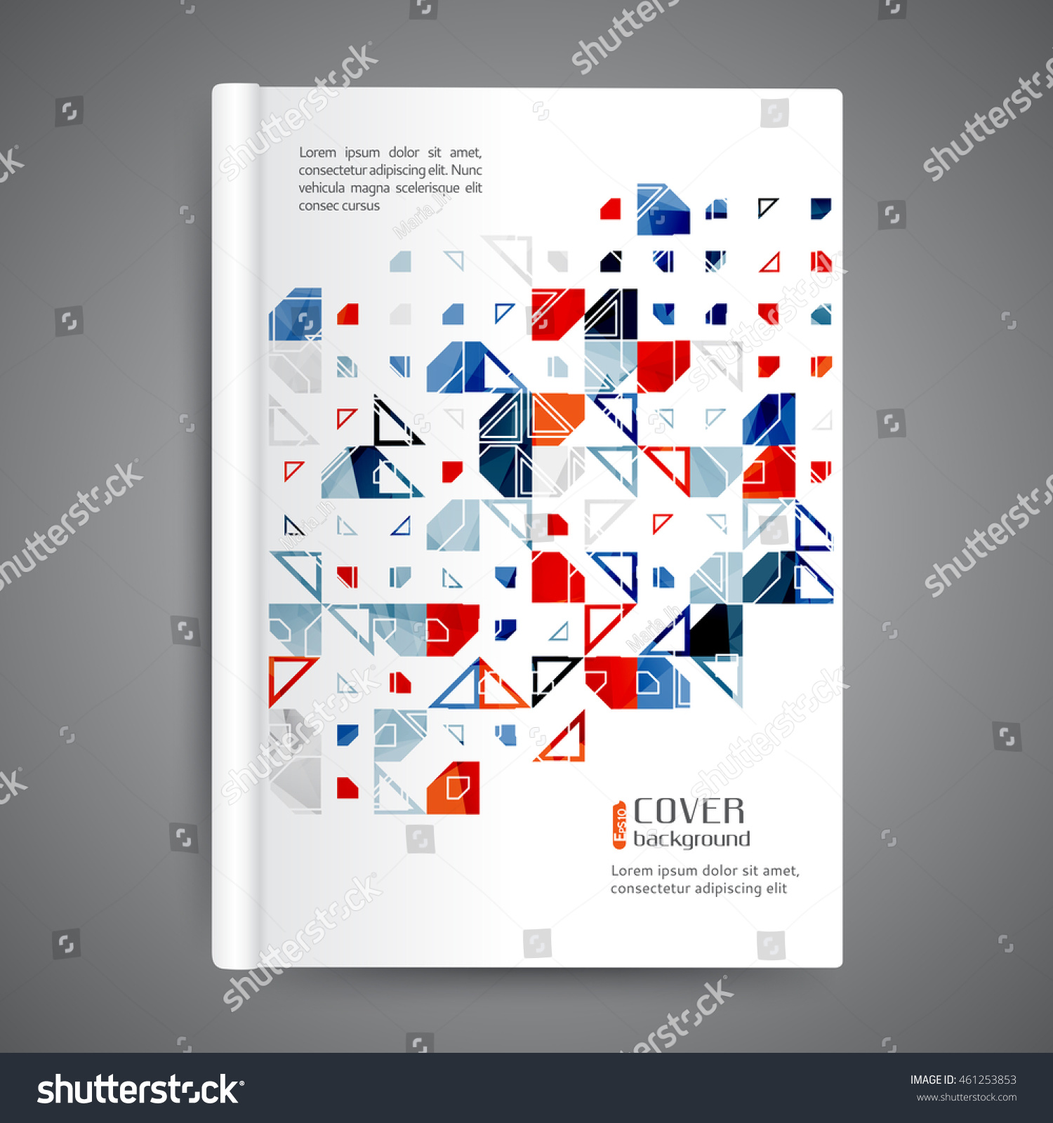 Book Cover Design Elements : Color book design template annual report stock vector