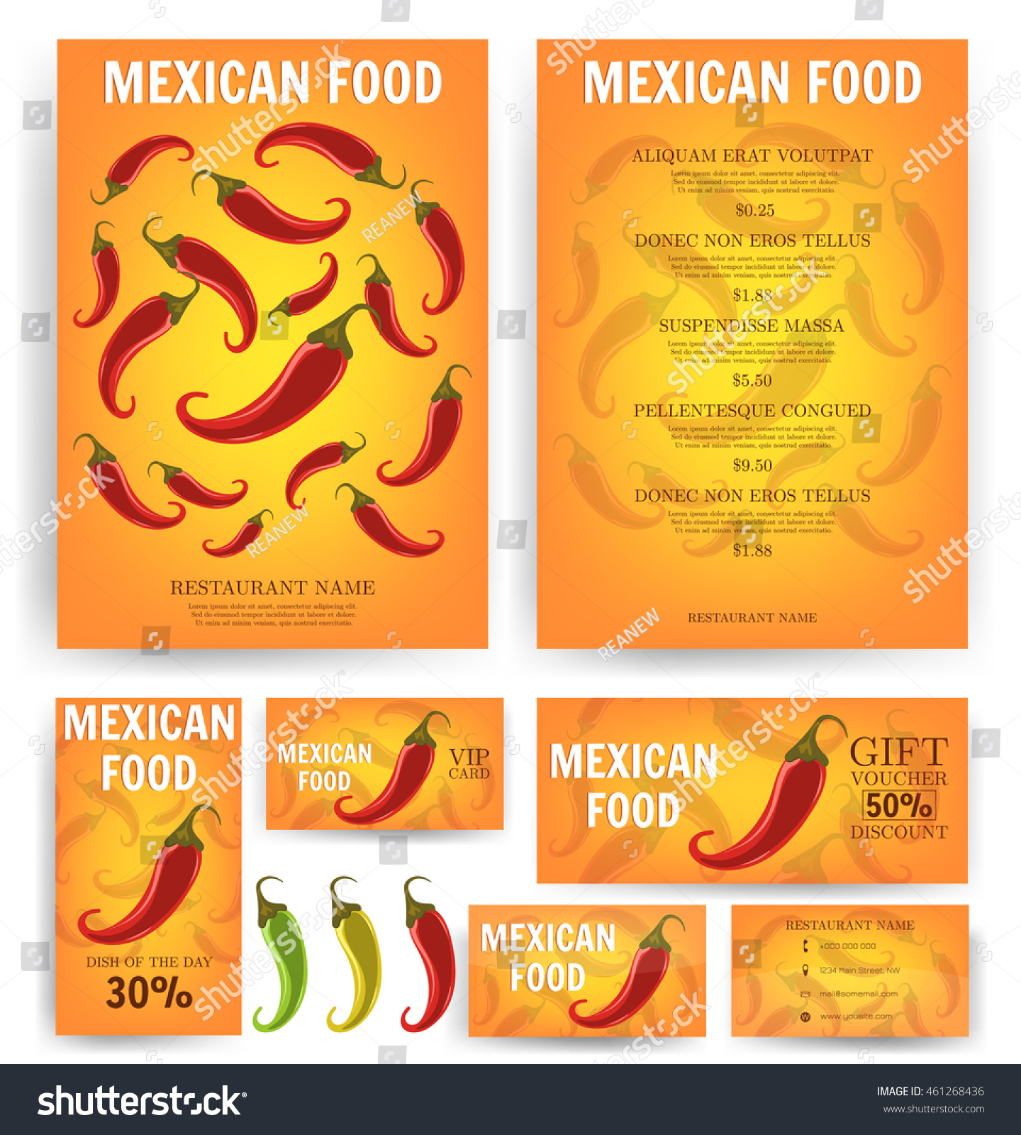 mexican food mexican restaurant menu template stock vector (royalty