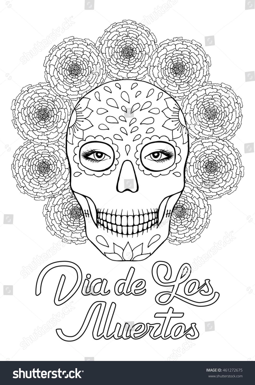 Sugar Skull Dia De Los Muertos Stock Photo (Photo, Vector ...