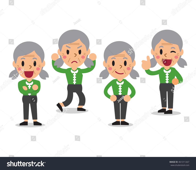Business team cartoon characters cartoon vector cartoondealer com - Cartoon Senior Woman Character Poses