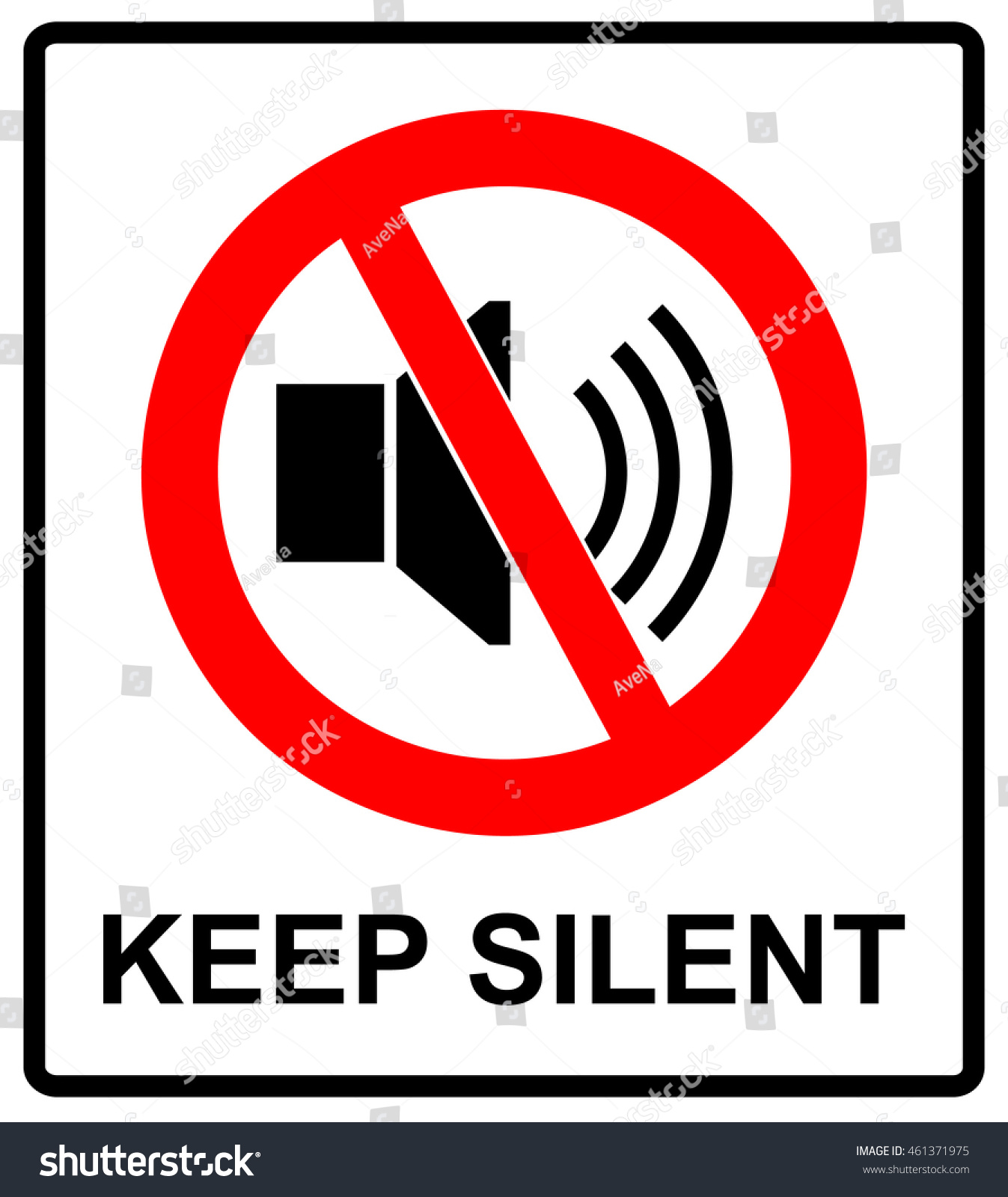 Prohibited sign keep silent vector symbol stock vector 461371975 vector symbol for public places keep quite no buycottarizona Image collections