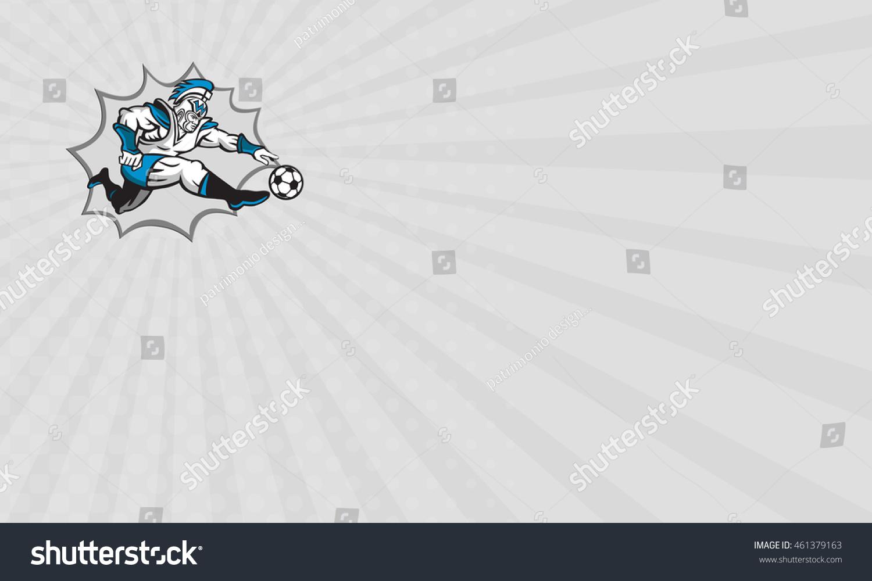 Business card showing illustration centurion roman stock business card showing illustration of centurion roman warrior soldier gladiator soccer player kicking football ball viewed magicingreecefo Choice Image
