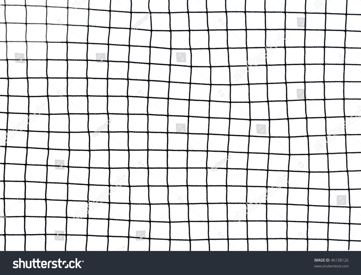 Black Soccer Net Texture Isolated On Stock Photo 46138126
