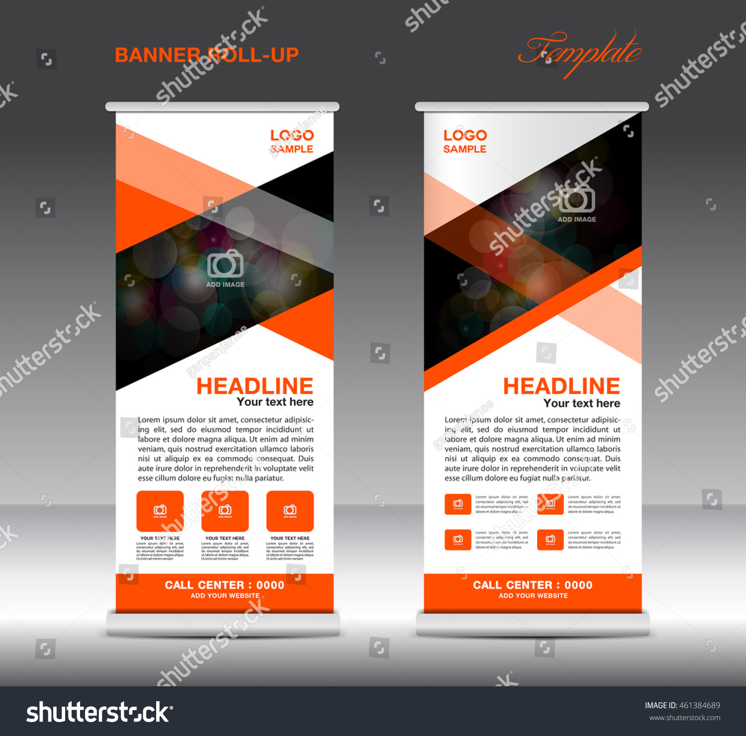 orange roll banner template vector standy stock vector 461384689 orange roll up banner template vector standy design display advertisement flyer for corporate