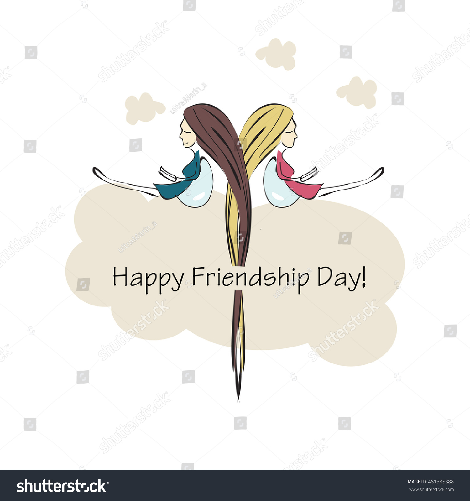 Vector Illustration Beautiful Card Friendship Day Vector – Friendship Card Template