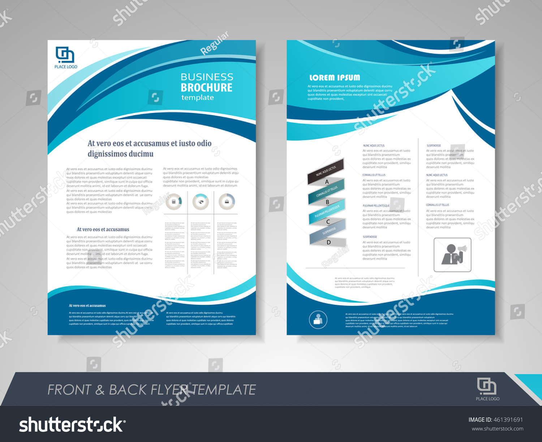 Modern Blue Brochure Design Template Brochures Stock Vector - Templates for brochures