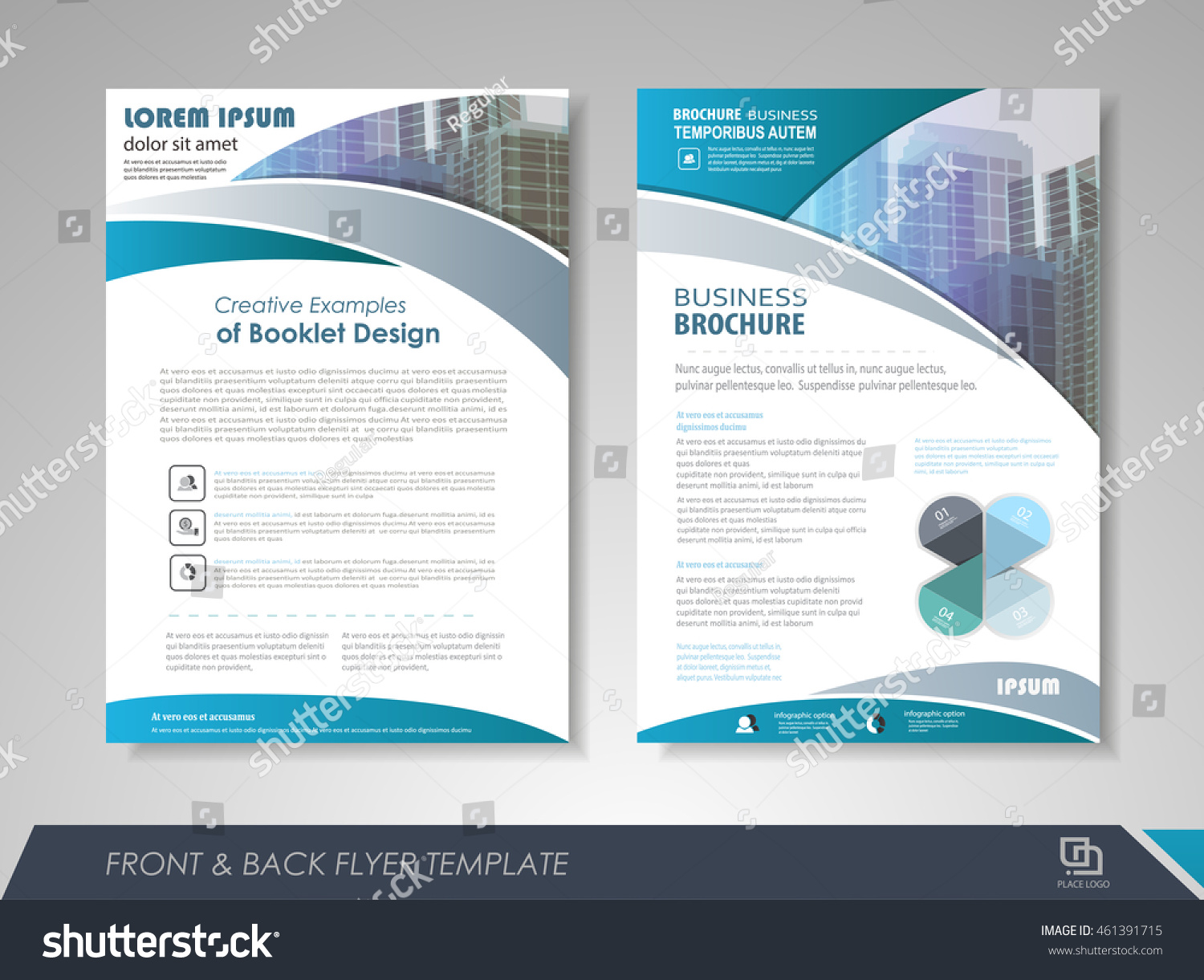 front and back page brochure template flyer design leaflet cover flyer design leaflet cover for business presentations preview save to a lightbox