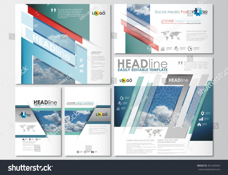social media posts set business templates stock vector 461429443 shutterstock. Black Bedroom Furniture Sets. Home Design Ideas