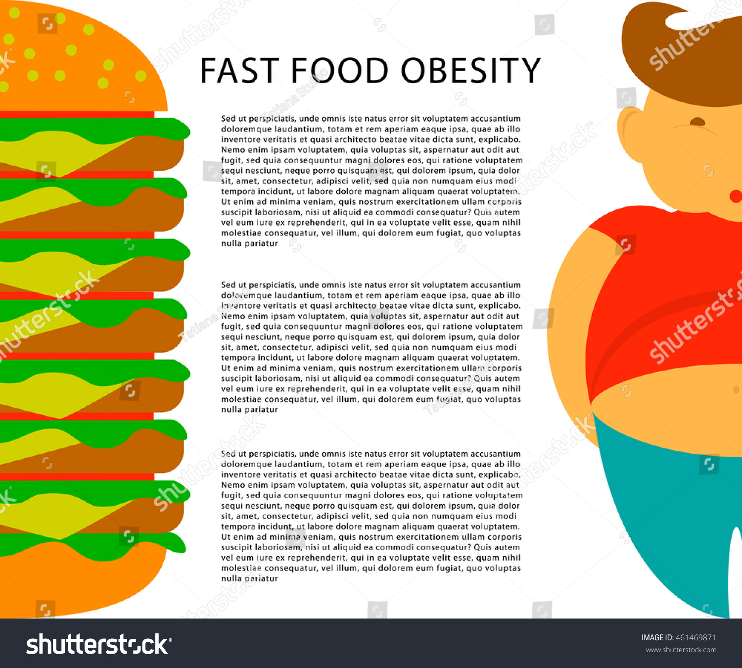 Fast food infographics stock vector 28 images fast for Childhood obesity powerpoint templates