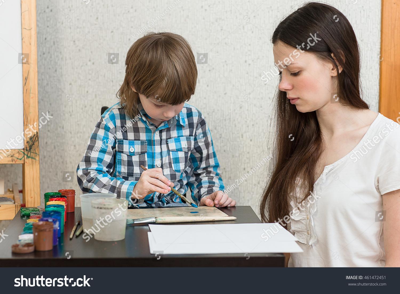 son Mom teaches