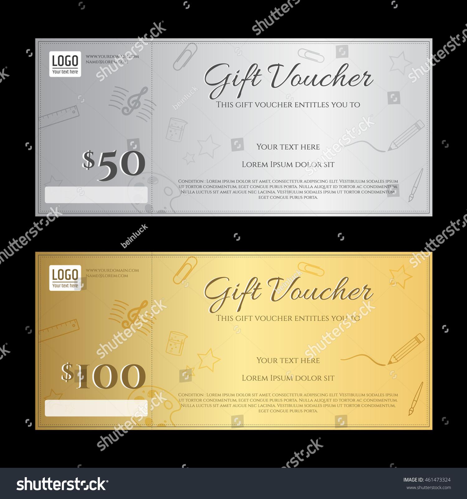 Gift Voucher Gift Certificate Template Luxury Vector – Voucher Certificate Template