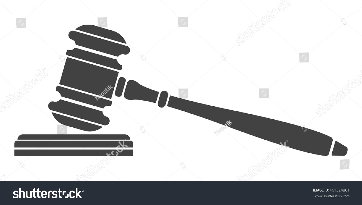 Judge Gavel Icon Auction Hammer Isolated Stock Vector ...