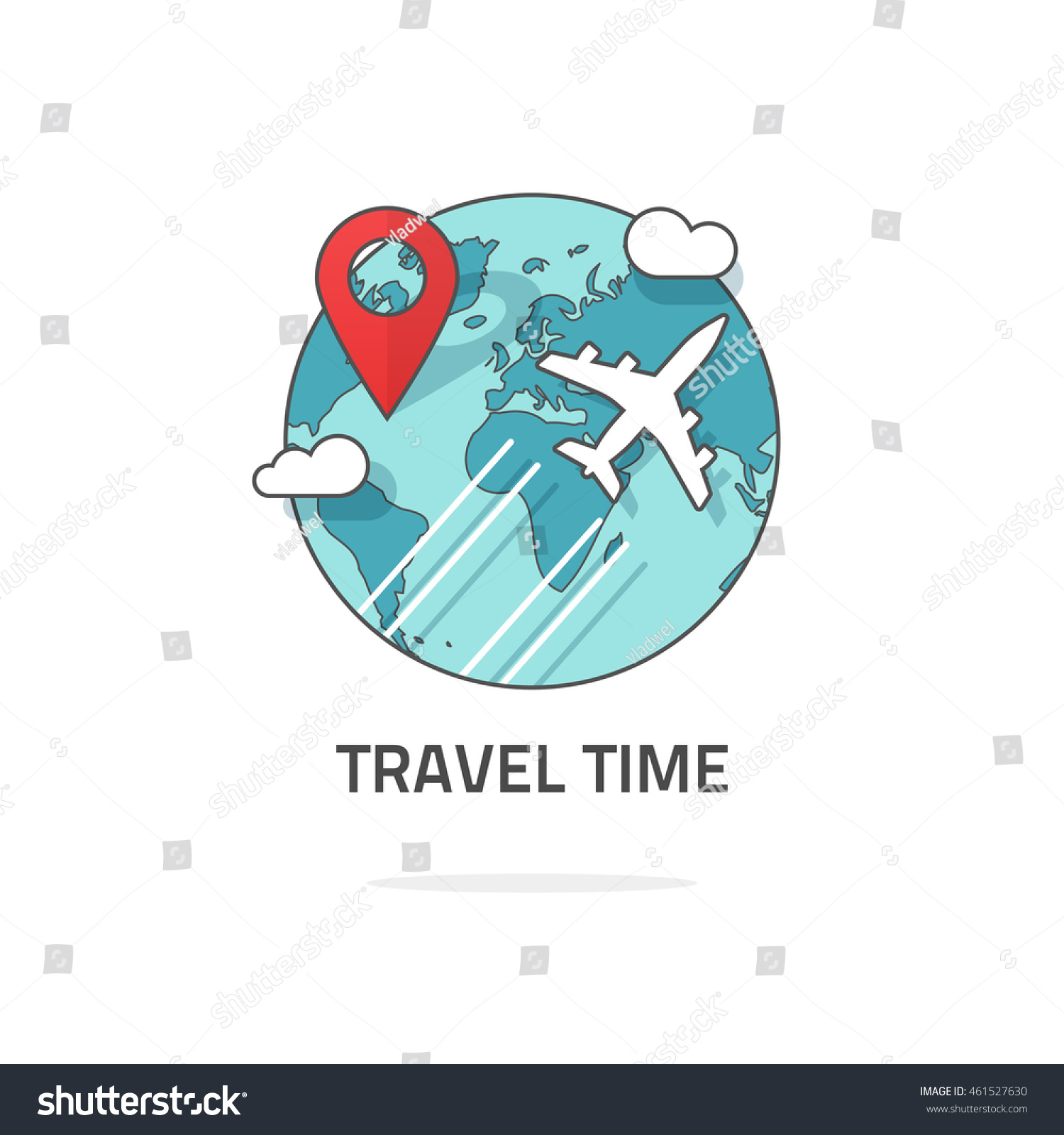 Travelling Around World By Plane Concept Stock Vector ...