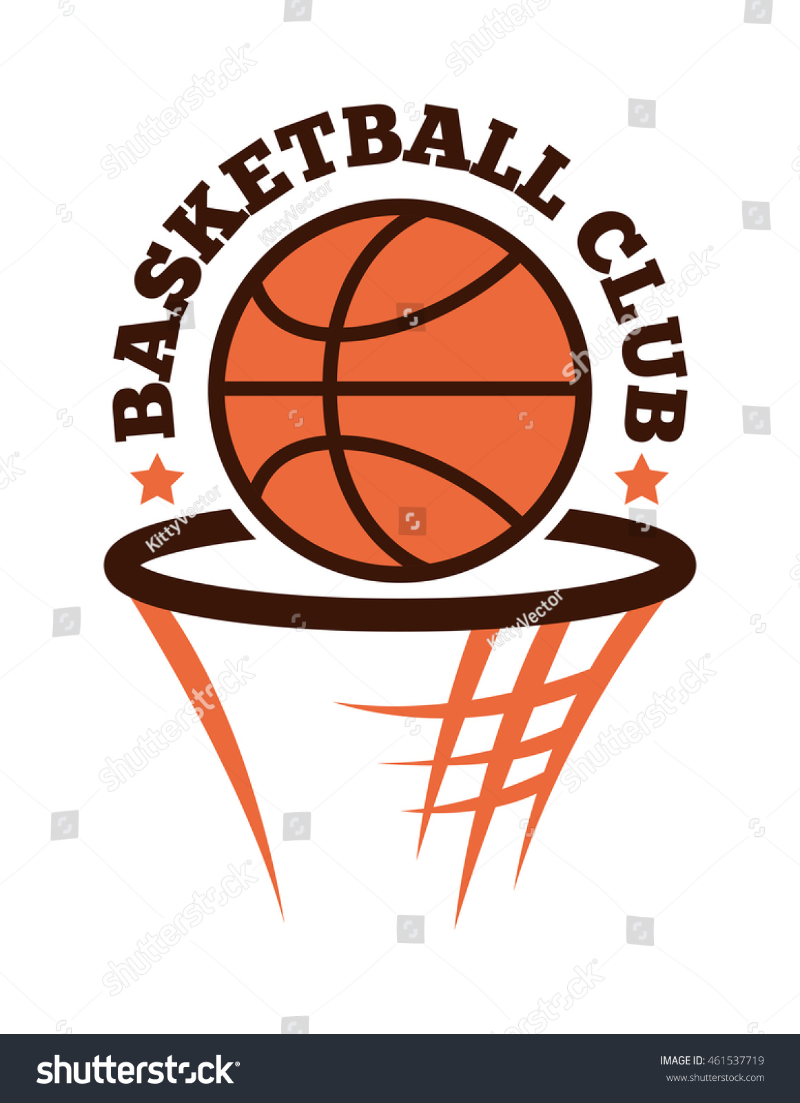 Template logo basketball sport team sport stock vector 461537719 template logo for basketball sport team with sport sign and symbols biocorpaavc Choice Image