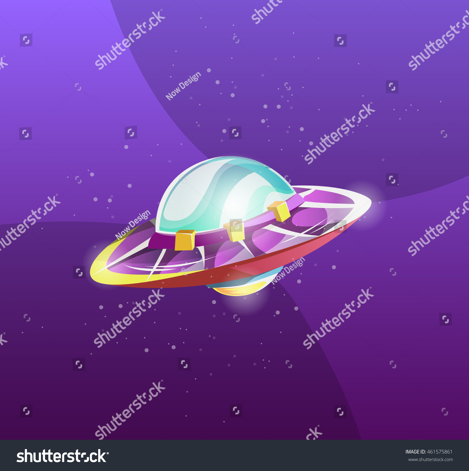 Ufo Alien Spaceship Element Design Games Stock Vector Royalty Free