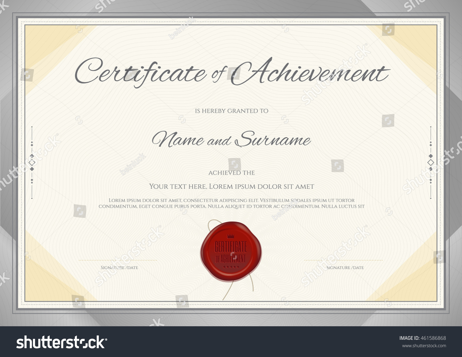 Da Form 2442 Certificate Of Achievement Template