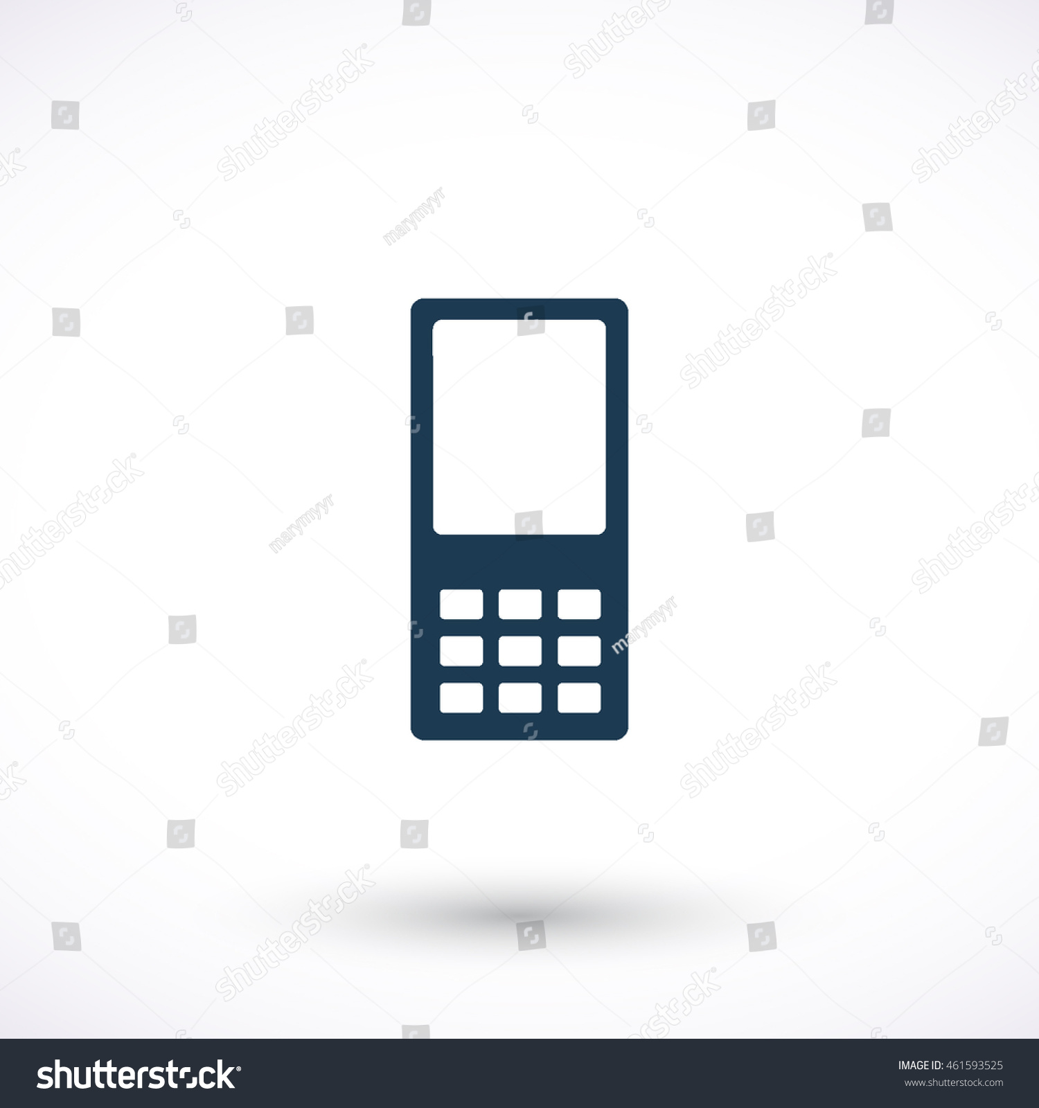 Cell Phone Vector Icon Graphic Symbol Stock Vector 461593525