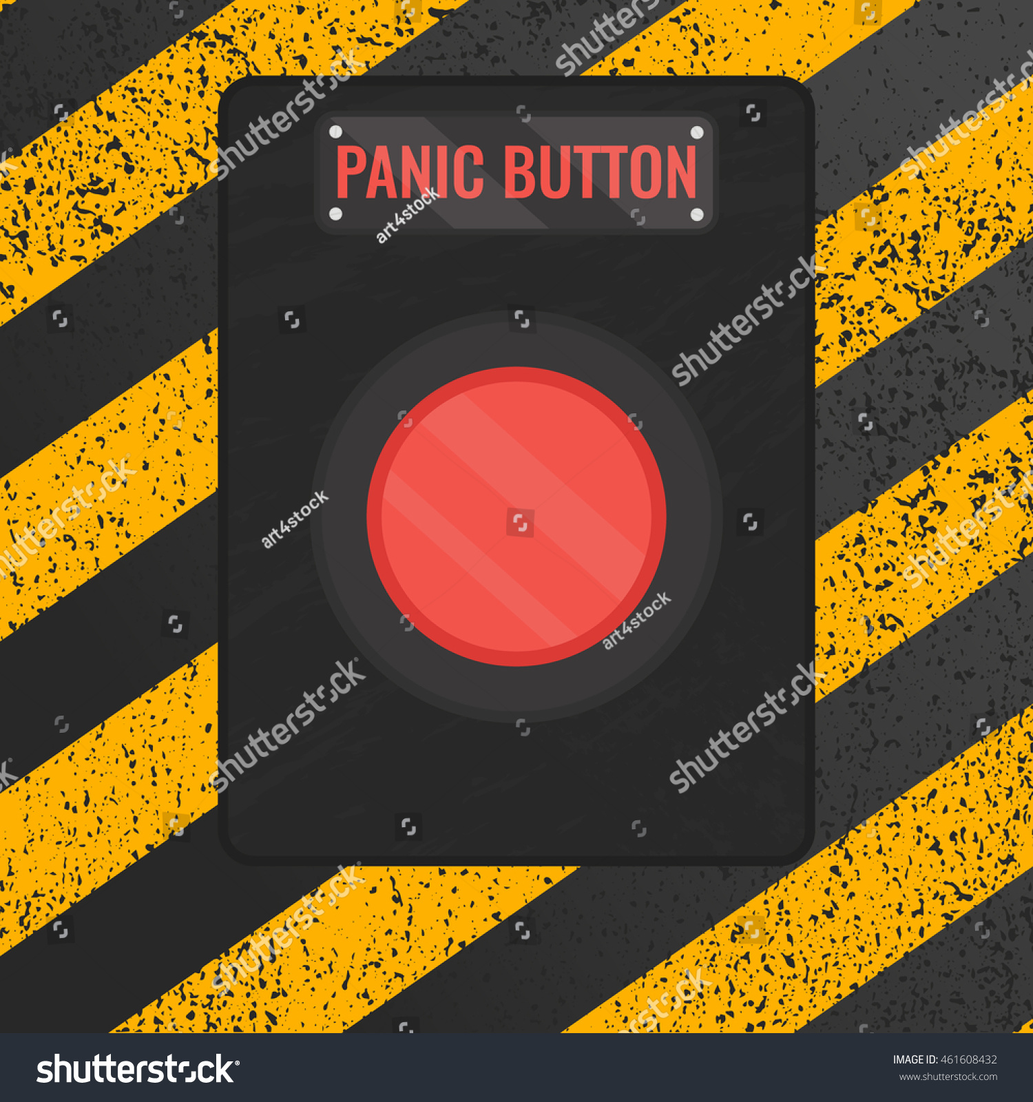 Emergency stop icon clipart emergency off - Vector Illustration Of A Red Emergency Stop Lever On Rusty Yellow And