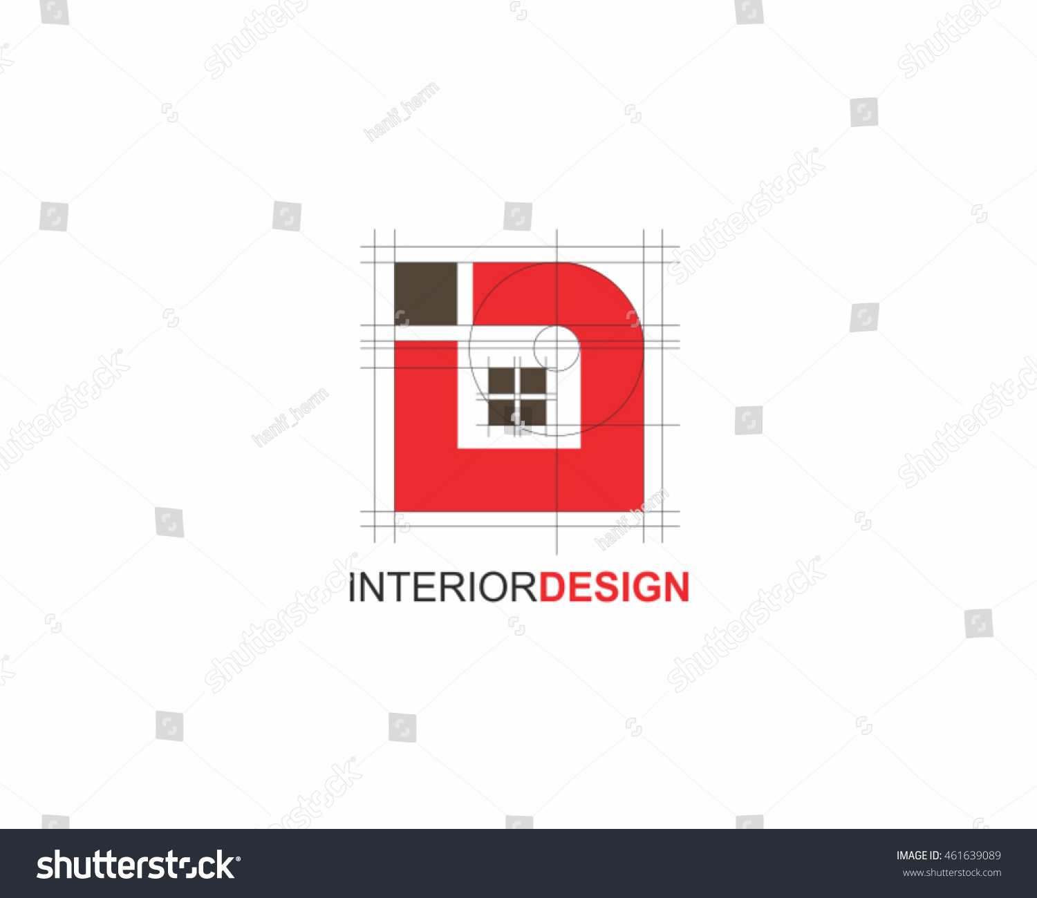 Interior Design Logo Vector Stock Vector 461639089