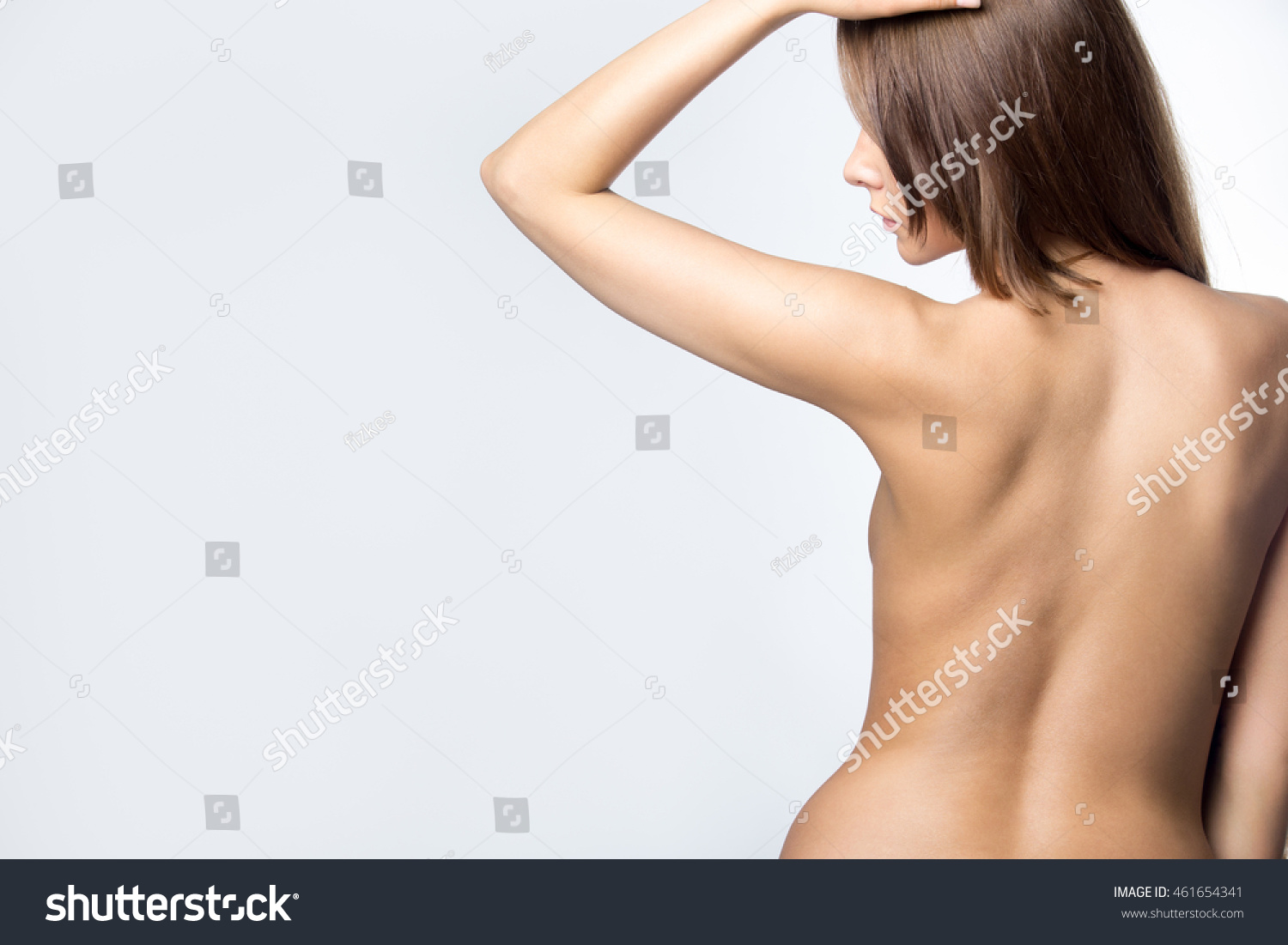 back profile view sexy fit nude stock photo (download now) 461654341