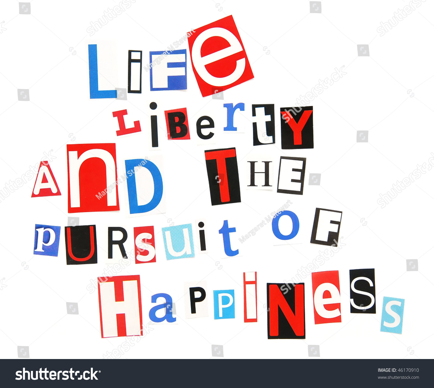 Life Liberty Pursuit Happiness Stock Photo 46170910
