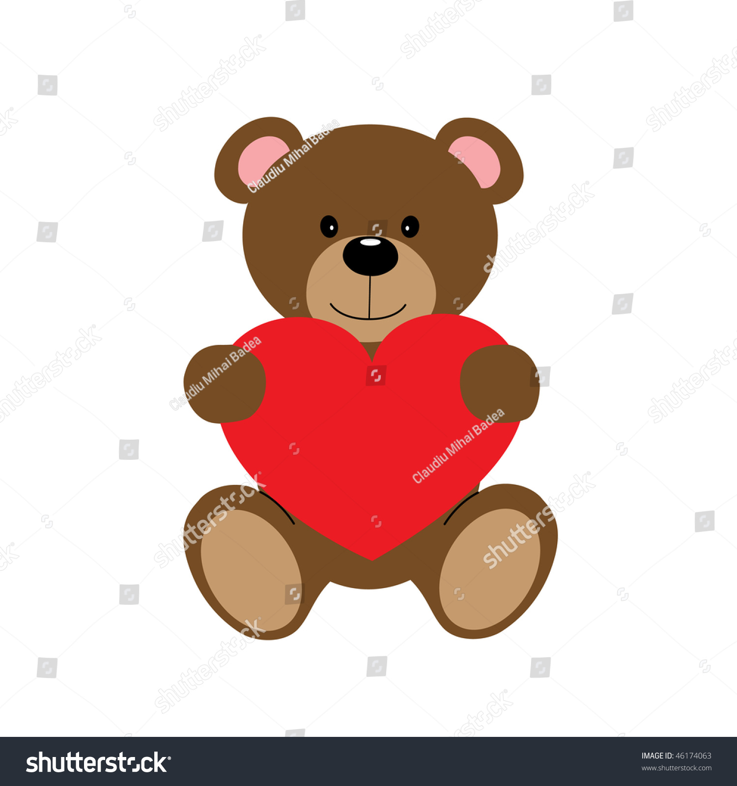 baby blue teddy bear clip art