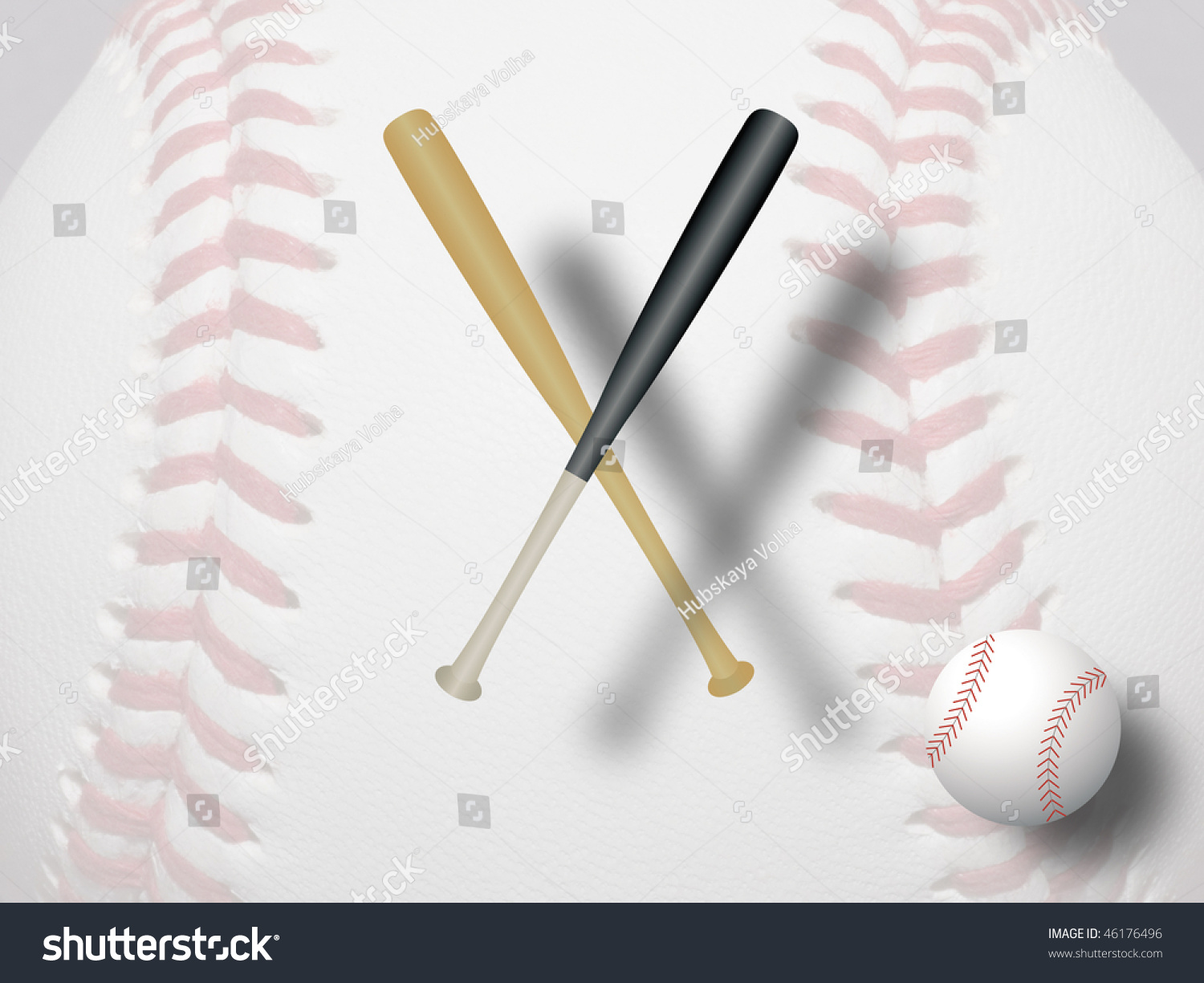Baseball Equipment Ball Bat Ilustración de stock46176496: Shutterstock