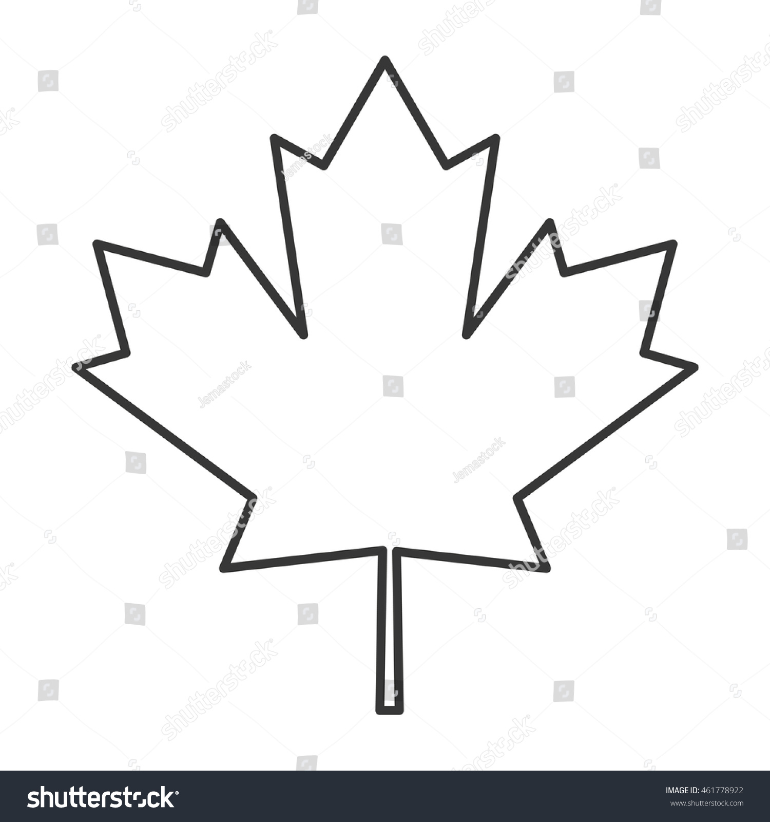 flat design canada flag maple leaf stock vector 461778922